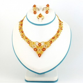 Gold Plated Silver Necklace Set