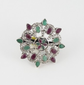 Silver Dazzling Jewels Ladies Ring