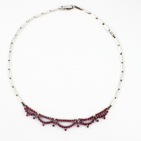 925 Sterling Silver Ruby Necklace