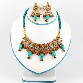 Gold Plated Silver Wedding Necklace Set