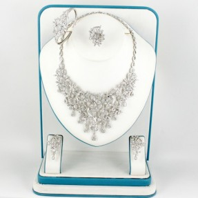 925 Sterling Silver | Rhodium Plated | Necklace Set