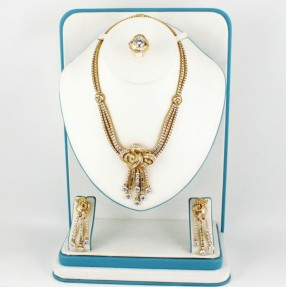 925 Sterling Silver/Gold Plated Necklace Set