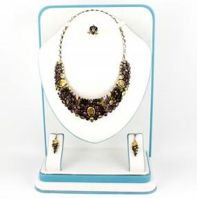 925 Sterling Silver | Semi Precious Gemstones | Necklace Set