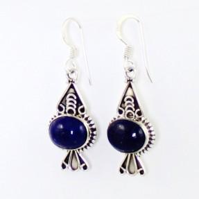 925 Sterling Silver Sapphire Earrings