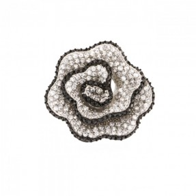 925 Sterling Silver Cubic Zirconia Rose Ring