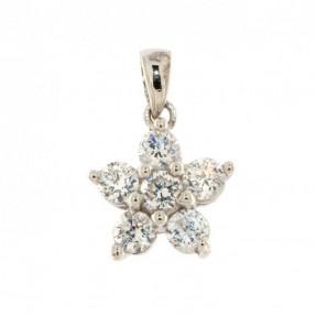 925 Sterling Silver Flower Pendant
