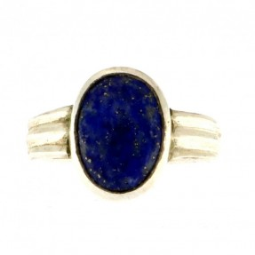 925 Sterling Silver Lapis Gent's Ring
