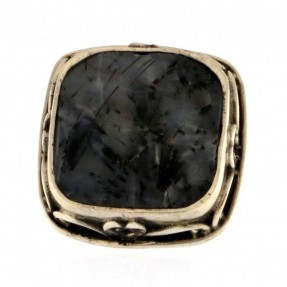 925 Sterling Silver Aget Unisex Ring
