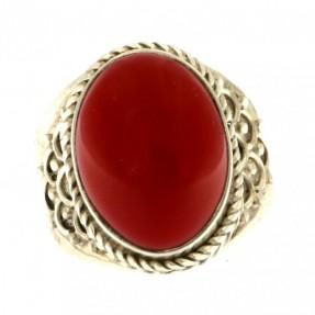 925 Sterling Silver Jasper Unisex Ring