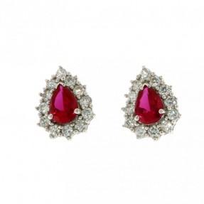 925 Sterling Silver Rhodium Plated Stud Earrings