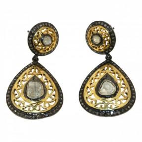Sterling Silver Diamond Stud Erarrings