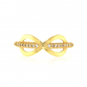 22ct Real Gold Asian/Indian/Pakistani Style Infinity Ring
