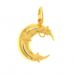 Indian/Asian Moon & Stars Pendant (Pre-Owned)