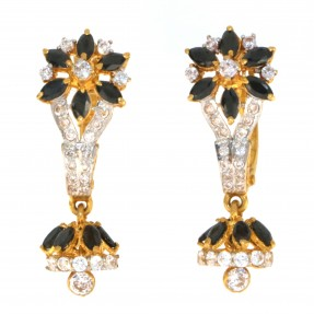 22ct Real Gold Asian/Indian/Pakistani Style Jhumkay Earrings ROYAL COLLECTION