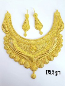 22ct Real Gold Asian/Indian/Pakistani Style Filigree Necklace Set
