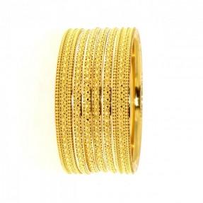 22ct Indian Gold 4 Bangles 2 Karas