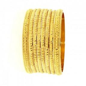 22ct Indian Gold 6 Bangles 2 Karas