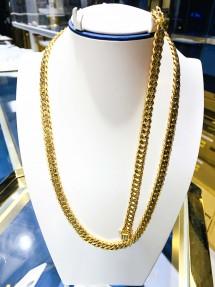 22ct Indian/Asian Gold Men's Curb Chain & Bracelet Set
