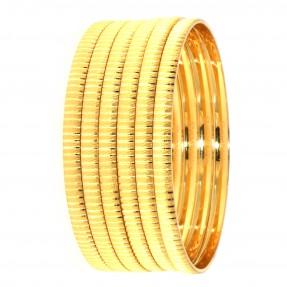 22ct Indian/Asian Gold 6 Bangles Set