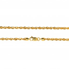 22ct Indian/Asian Gold Hollow Rope Chain
