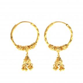 22ct Indian/Asian Gold Hoop Earrings