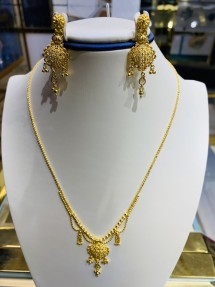 22ct Indian/Asian Gold Filigree Necklace Set