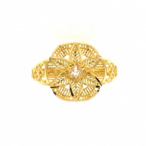 22ct Indian/Asian Gold Flower Ring