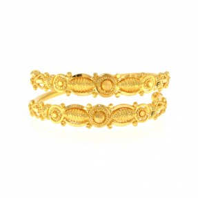 22ct Real Gold Asian/Indian/Pakistani Style Spiral Filigree Ring