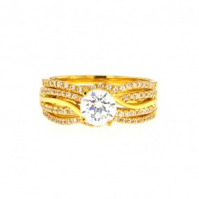 22ct Real Gold Asian/Indian/Pakistani Style Wedding Ring Set