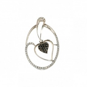 Cubic Zirconia Heart Pendant (Pre-Owned)