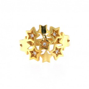 22ct Indian Gold Stars Ring