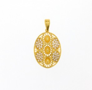 22ct Indian Gold Pendant