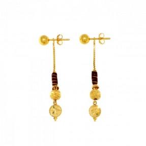 22ct Indian-Asian Gold Drop Earings