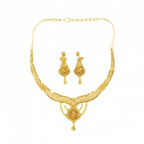 22ct Indian-Asian Gold Filigree Necklace Set