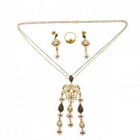Indian-Asian Necklace Set & Bracelet (Pre-Owned)