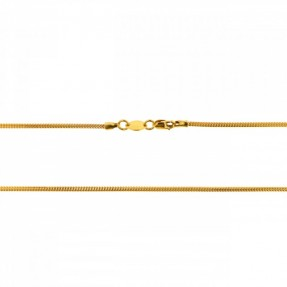22ct Indian-Asian Gold Snake Chain