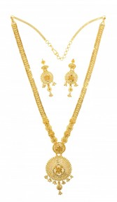 22ct Indian Gold Filigree Rani Haar/Necklace Set