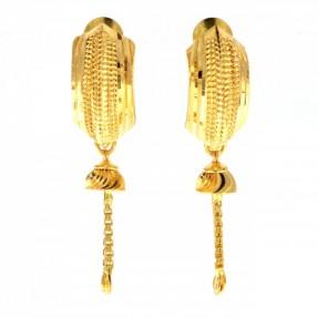 22ct Indian/Asian Gold Stud Jhumkay Earrings