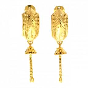 22ct Indian/Asian Gold Heart Stud Jhumkay Earrings