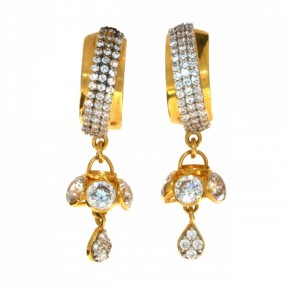 22ct Indian/Asian Gold Drop Jhumkay Earrings