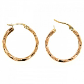 English Three Colour Hoop Earrings (Pre-Owned)