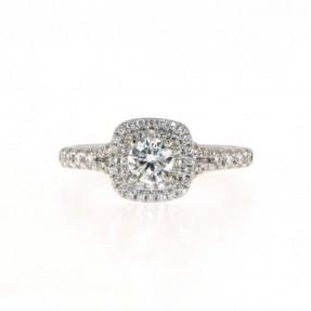 Platinum 0.62ct Diamond Cluster Ring