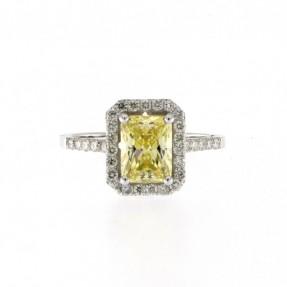 14ct White Gold Diamond Ring 0.53ct