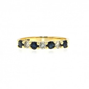Diamond Sapphire Ring (Pre-Owned)