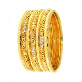 22ct Indian-Asian Gold 7 Bangles Set