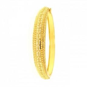 22ct Indian-Asian Filigree Gold Bangle-Kara Openable (Single)