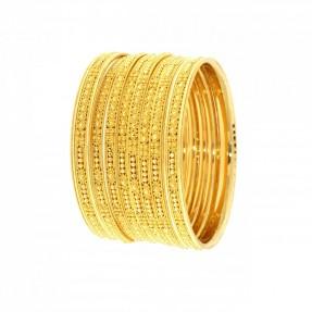 22ct Indian-Asian Gold Filigree 6 Bangles & 2 Karas Set