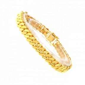 22ct Indian/Asian Gold Men's Curb Bracelet