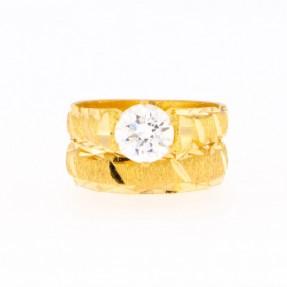 22ct Indian Gold Wedding Ring Set