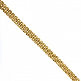 9ct Gold Rolex Omega Beads of Rice Ladies Gate Necklace-Chain